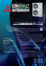 FDCA140 Mini VRF KX Multi System - Mitsubishi Heavy Industries Ltd.