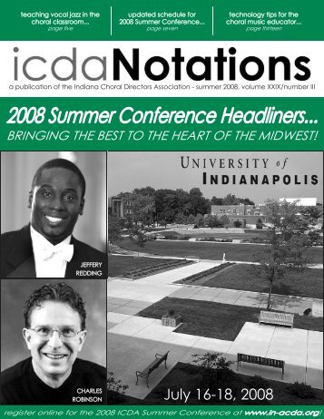 Summer 2008 - Indiana Choral Directors Association