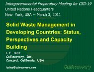 Solid Waste Management in Developing Countries - United Nations ...