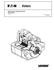 High Pressure, High Performance Vane Pumps - Vickers