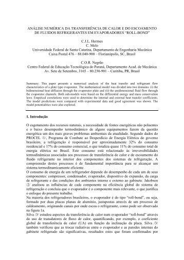 Análise Numérica da Transferência de Calor e do ... - PPGEM