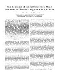 Joint Estimation of Equivalent Electrical Model Parameters and State ...
