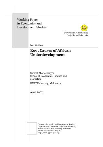 Root Causes of African Underdevelopment