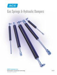 Gas Springs & Hydraulic Dampers - Warden Fluid Dynamics