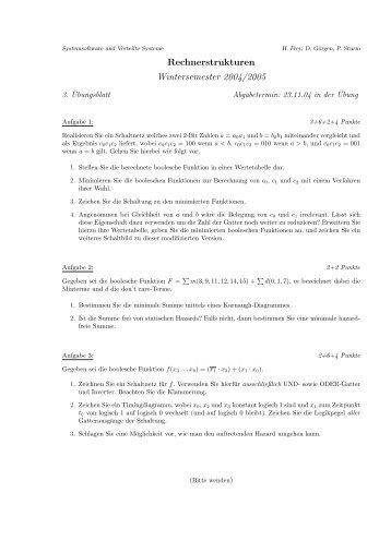 Rechnerstrukturen Wintersemester 2004/2005 - Systemsoftware und ...