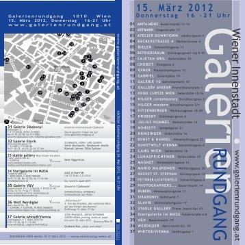15. März 2012 - Galerie Konzett