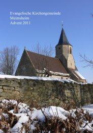 Gemeindebrief Advent 2011 - Evangelische Kirchengemeinde ...