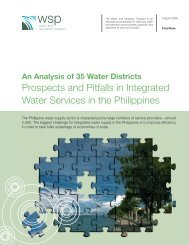 An Analysis of 35 Water Districts Prospects and Pitfalls in ... - WSP