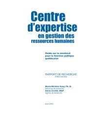 Guide sur le mentorat pour la fonction publique québécoise