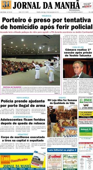 Porteiro é preso por tentativa de homicídio após ... - Jornal da Manhã