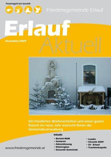 Gemeindezeitung Dezember 2009 (1,09 MB) - Friedensgemeinde ...