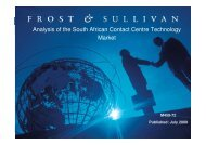 Analysis of the South African Contact Centre Technology Market