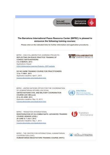 The Barcelona International Peace Resource Center (BIPRC ... - IEEE