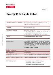 Expert-a Docent Cases d'Oficis Agent de qualitat ... - Barcelona Activa