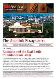 The Asialink Essays 2011 - University of Melbourne