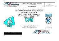 CATALOGO delle PRESTAZIONI di DIAGNOSTICA Rev. 10 del 17 ...