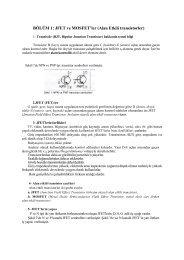 BÖLÜM 1: JFET ve MOSFET'ler (Alan Etkili transistorler)