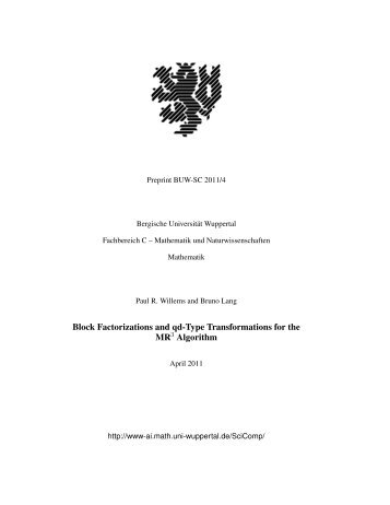 pdf-version - Applied Computer Science Group - Bergische ...