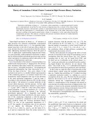 Theory of Anomalous Critical-Cluster Content in High-Pressure ...