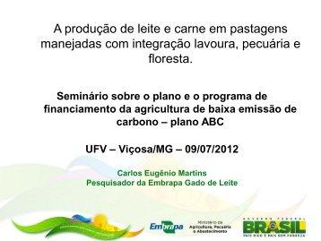 Produção de leite e carne em ILPF - UFV