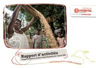 Rapport annuel 2008 - Peuples solidaires