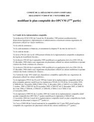 Règlement n°2005-07 du 3 novembre 205 modifiant le plan ...