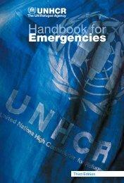 UNHCR Handbook for Emergencies - Refworld