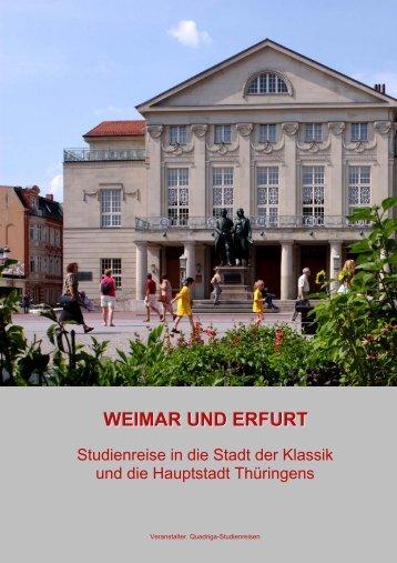 WEIMAR UND ERFURT - Quadriga-Studienreisen