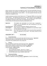 APPENDIX C Summary of Consultation Feedback - Land