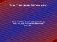Wie man Israel lieben kann - EFG Hemsbach