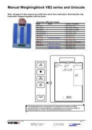 Manual Weighingblock VB2 series and Uniscale - Vetek Scales