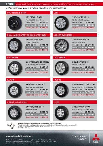 Akční nabídka kompletních zimních kol Mitsubishi - M Motors CZ, s.r.o.