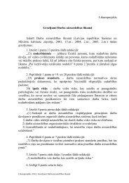Likumprojekts Grozījumi Darba aizsardzības likumā Izdarīt Darba ...