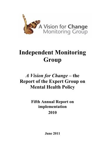 Vision for change - 5th annual report - Department of Health and ...