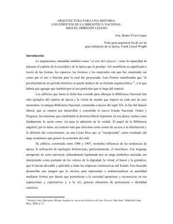 ARQUITECTURA PARA UNA HISTORIA: LOS EDIFICIOS ... - Sinabi