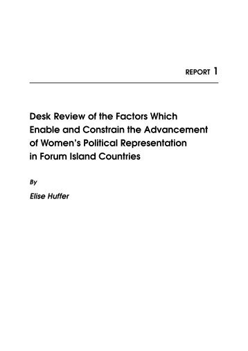 Desk Review of the Factors Which Enable and Constrain the ...
