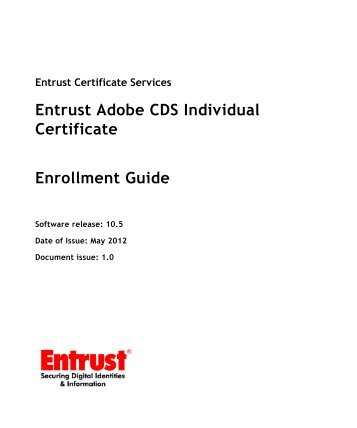 Entrust Adobe CDS Individual Certificate Enrollment ... - Entrust, Inc.