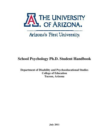 School Psychology Ph.D. Student Handbook - College of Education ...