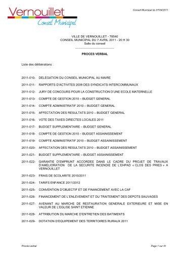 PV du conseil municipal du 30 mai 2011 (pdf - 888 Ko) - Mairie de ...