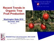 Recent Trends in Organic Tree Fruit Production Washington State ...
