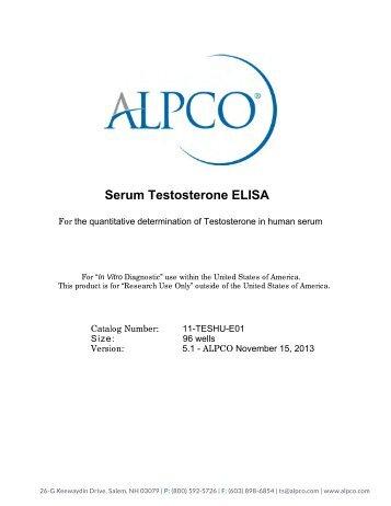 Testosterone (Serum) ELISA - ALPCO Diagnostics