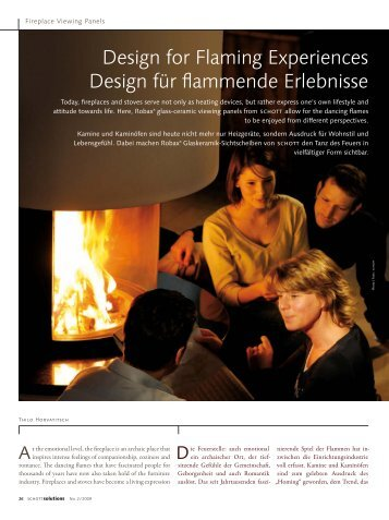 Design for Flaming Experiences Design für flammende Erlebnisse