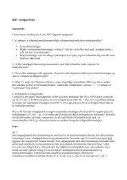 Lige et par afklarende spørgsmål: - Finanstilsynet