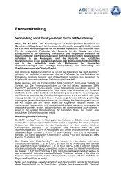 Formimpfmittel SMW-Formling DE - ASK Chemicals