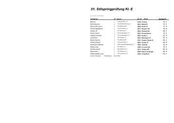 01. Stilspringprüfung Kl. E - Pferdefreunde Münchsmünster