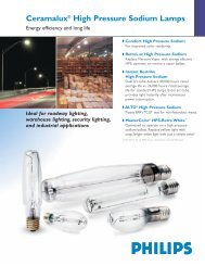 Ceramalux® High Pressure Sodium Lamps - Philips Lighting