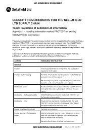 handling information marked PROTECT - Sellafield Ltd