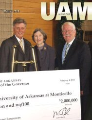 Winter 2008 - University of Arkansas at Monticello