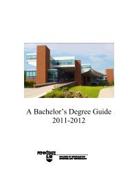 Baccalaureate Degree Roadmap 2011-2012 - College of ...