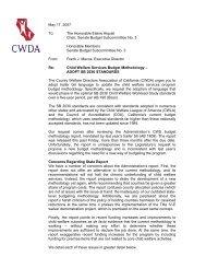 Child Welfare Services Budget Methodology - CWDA